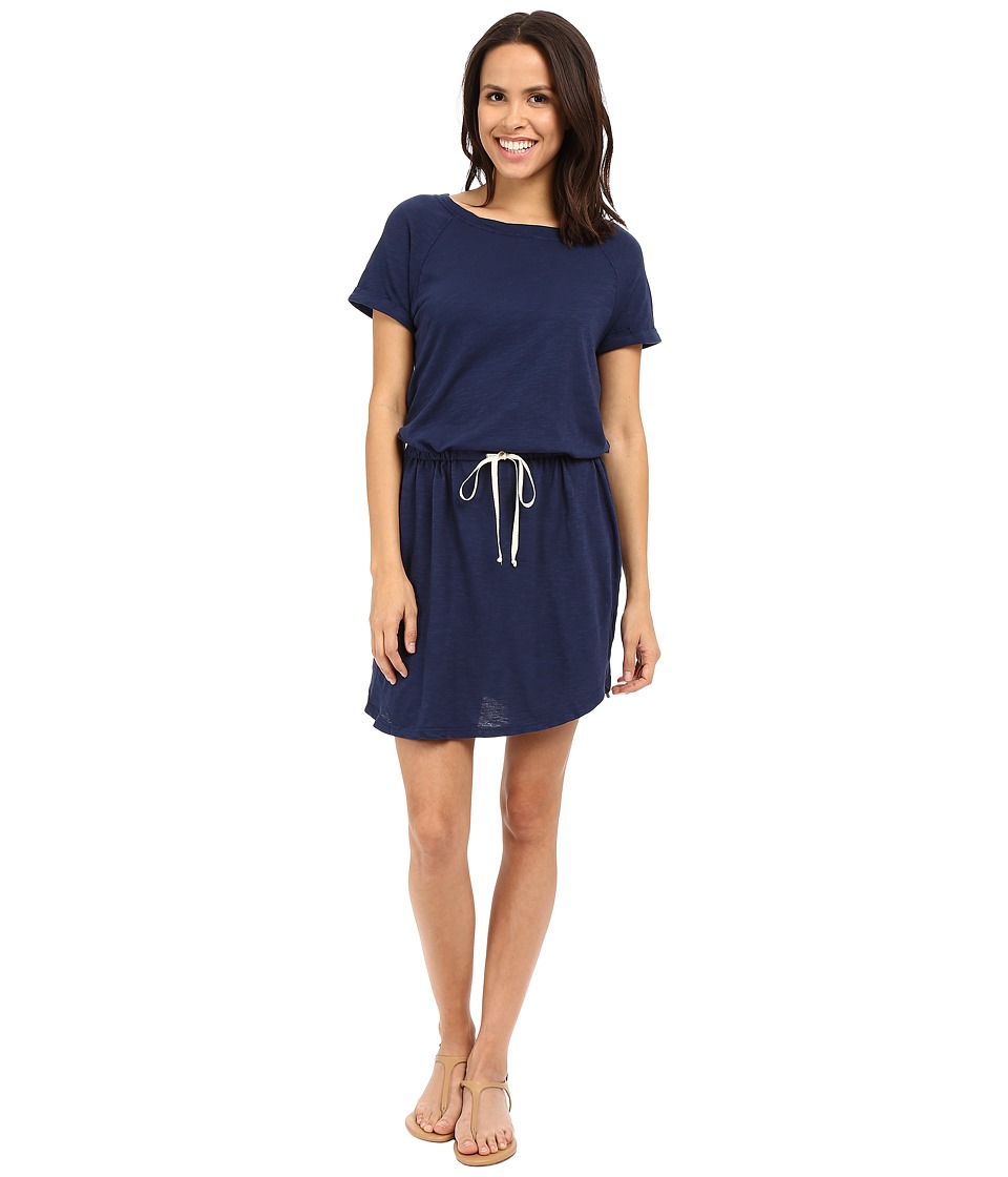 Allen Allen Raglan Roll Sleeve Dress (Lapis) Women