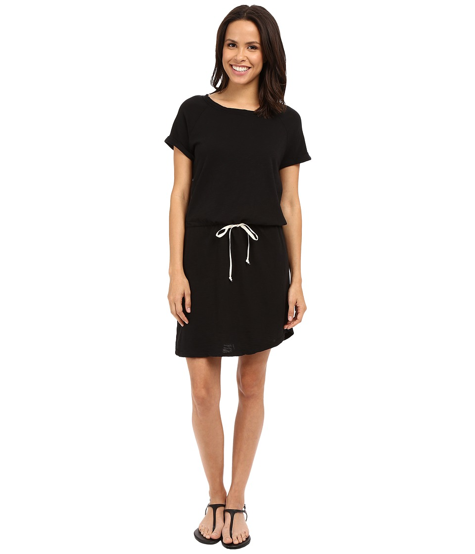 Allen Allen - Raglan Roll Sleeve Dress (Black) Women's Dress