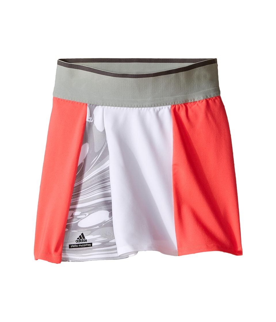 adidas Kids - Stella McCartney Barricade Skort - New York (Little Kids/Big Kids) (Flash Red/Oyster Grey/White) Girl's Skort