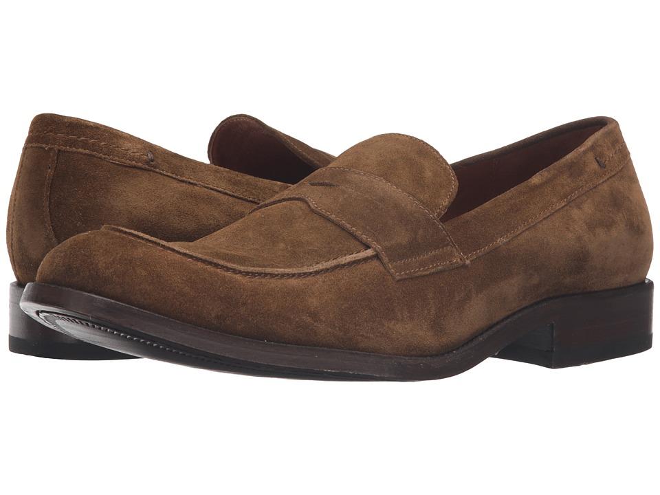 Frye - Hayden Penny (Chestnut Oiled Suede) Men's Slip on Shoes