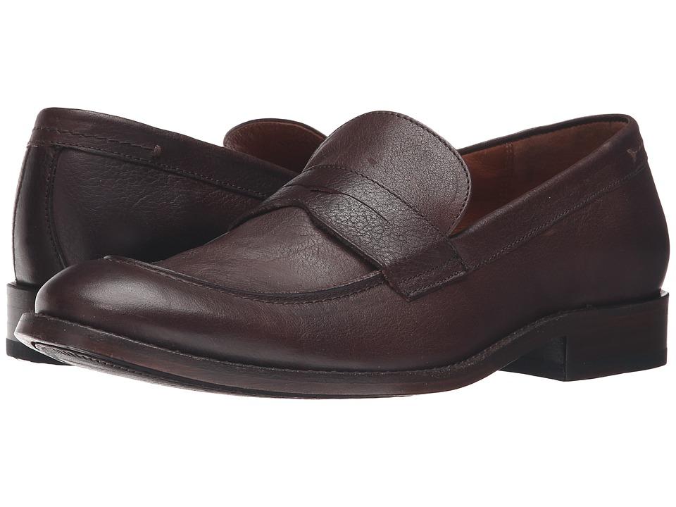 Frye - Hayden Penny (Dark Brown Tumbled Full Grain) Men's Slip on Shoes