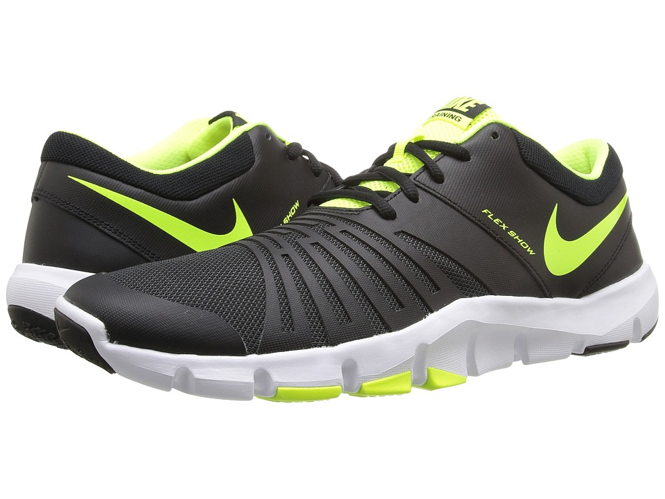 Nike - Flex Show TR 5 (Black/Anthracite/White/Volt) Men's Cleated Shoes