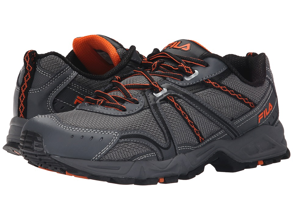 Fila - Ascent 12 (Dark Silver/Castlerock/Vibrant Orange) Men's Shoes