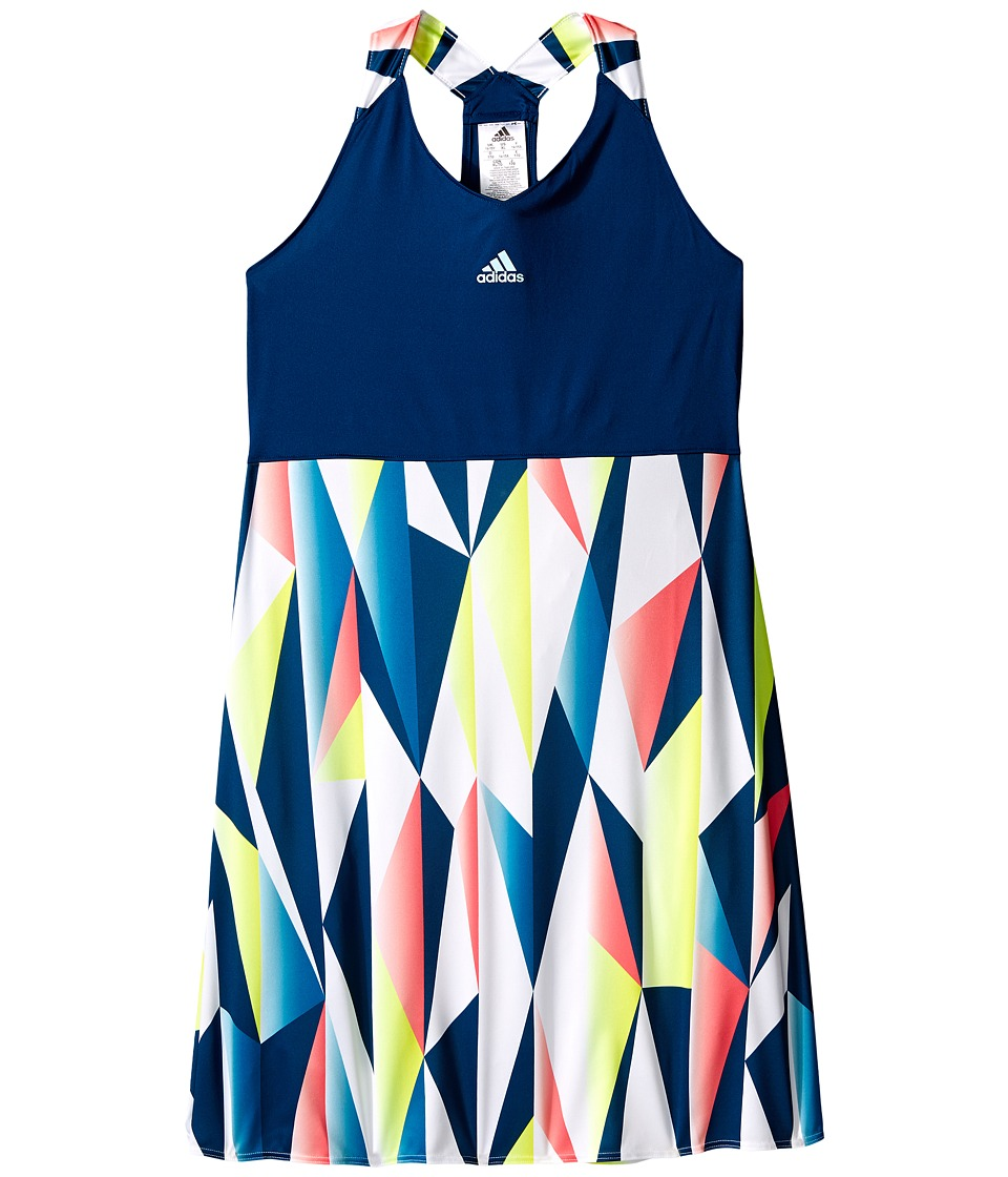 adidas Kids - Pro Dress (Little Kids/Big Kids) (Tech Steel/White/Flash Red) Girl's Dress