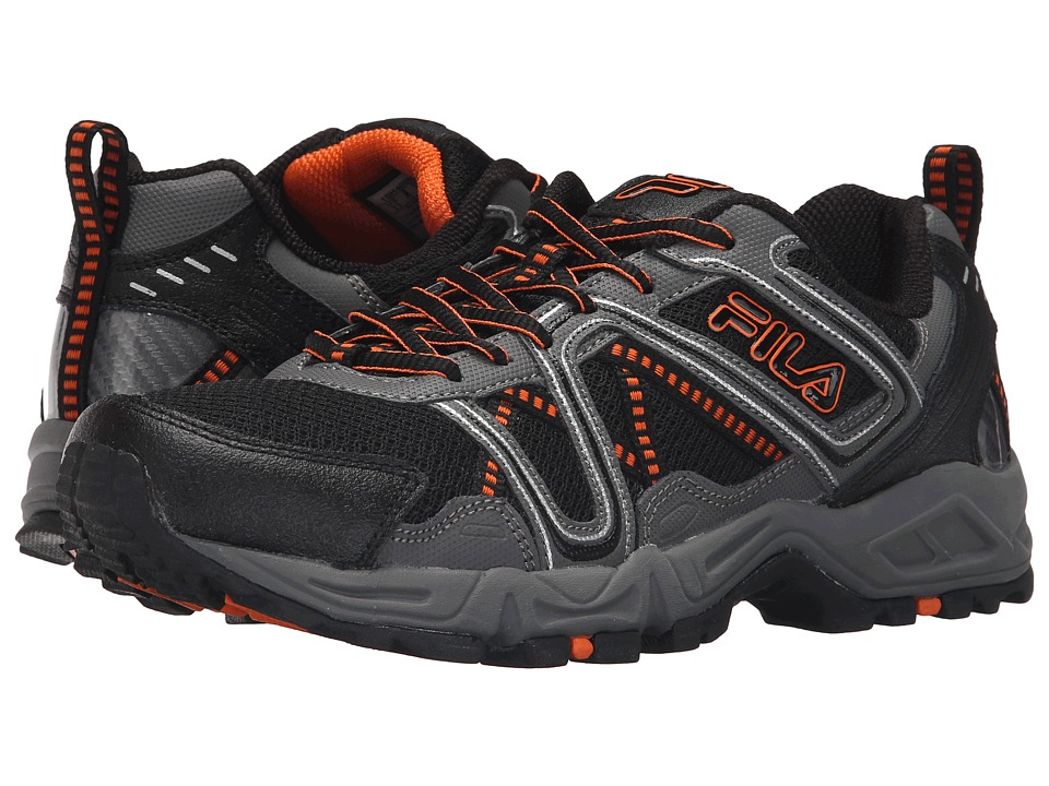 Fila - Ascente 15 (Black/Pewter/Vibrant Orange) Men's Shoes