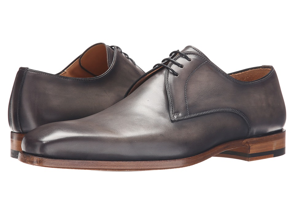 Magnanni - Kito (Grey) Men's Plain Toe Shoes