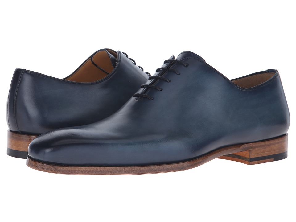 Magnanni - Kivi (Navy) Men's Plain Toe Shoes