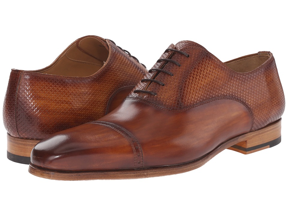 Magnanni - Geno (Cuero) Men's Lace Up Cap Toe Shoes