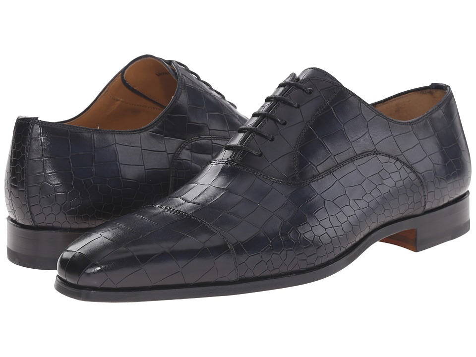 Magnanni - Mansur (Navy) Men's Lace Up Cap Toe Shoes
