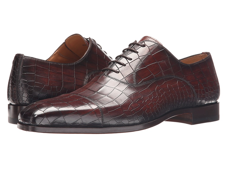 Magnanni - Mansur (Mid Brown) Men's Lace Up Cap Toe Shoes
