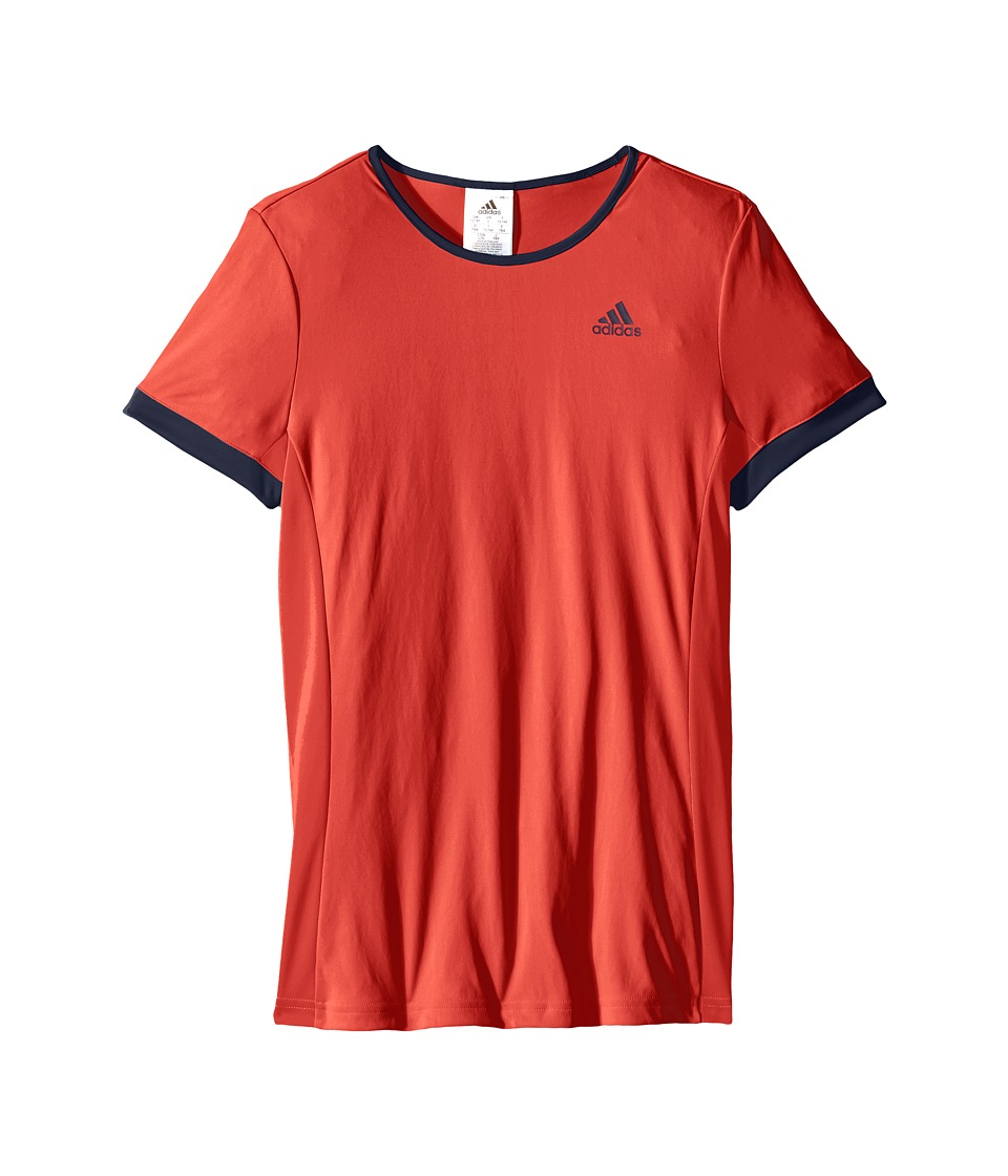 adidas Kids - Court Tee (Little Kids/Big Kids) (Ray Red/Collegiate Navy) Girl's T Shirt