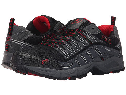 Fila - At Peake (Black/Castlerock/Fila Red) Men's Shoes