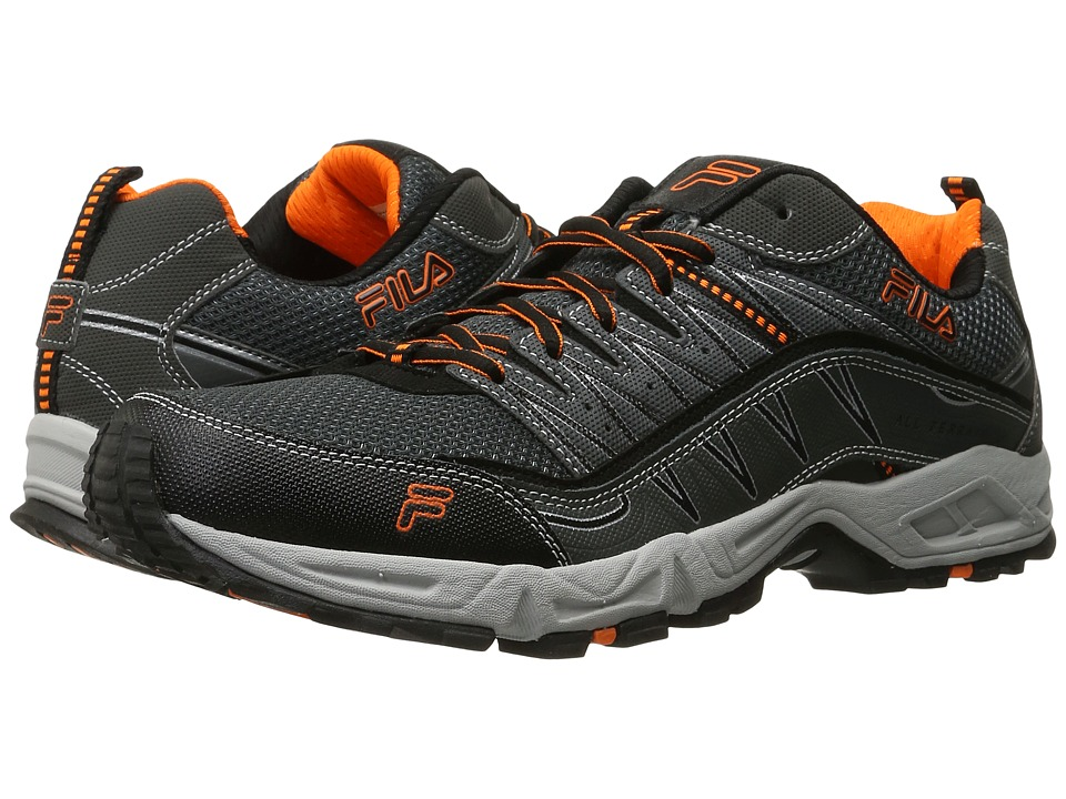 Fila - At Peake (Castlerock/Black/Vibrant Orange) Men's Shoes