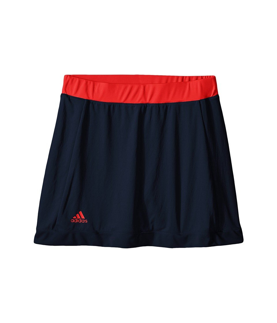 adidas Kids - Court Skort (Little Kids/Big Kids) (Collegiate Navy/Ray Red) Girl's Skort