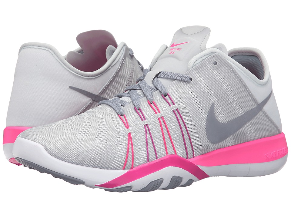 Nike - Free TR 6 (Pure Platinum/Pink Blast/Fire Pink/Stealth) Women's Cross Training Shoes
