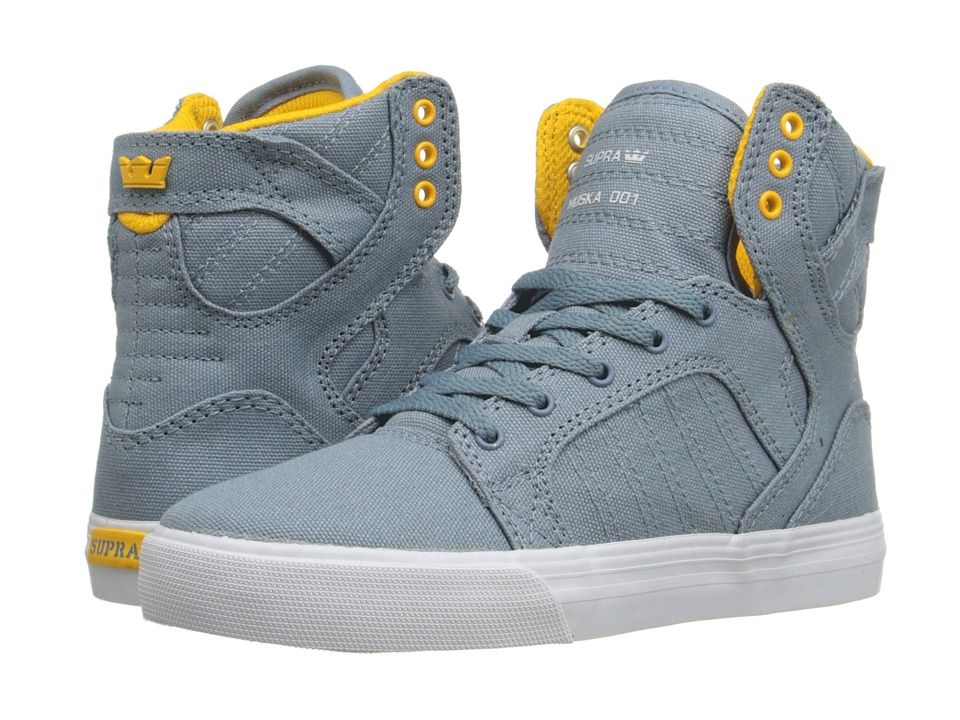 Supra Kids - Skytop (Little Kid/Big Kid) (Slate Canvas) Boys Shoes