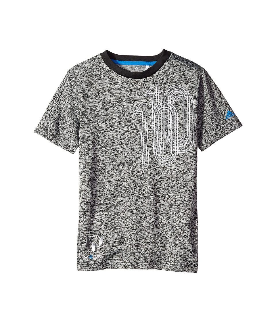 adidas Kids - Messi Icon Tee (Little Kids/Big Kids) (Black/Shock Blue) Kid's T Shirt