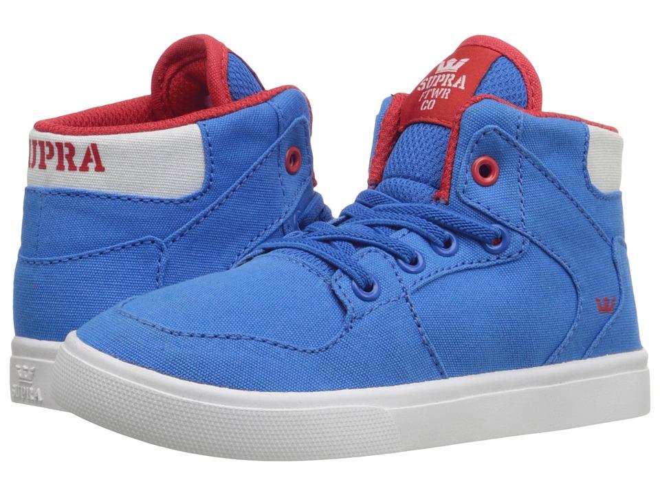 Supra Kids - Vaider (Toddler) (Royal/Red Canvas) Boy's Shoes