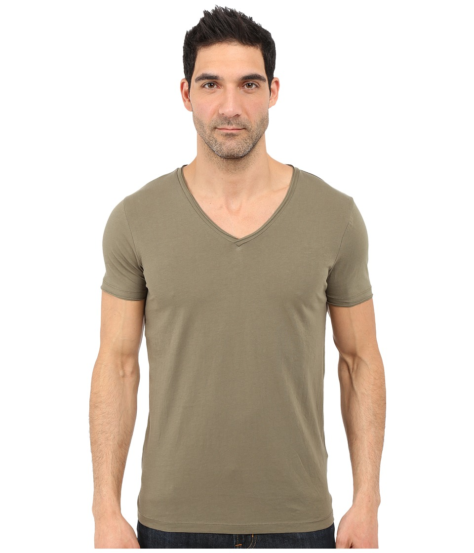 BOSS Orange - Tooley Jersey T-Shirt Short Sleeve V-Neck (Light Pastel Green) Men's T Shirt