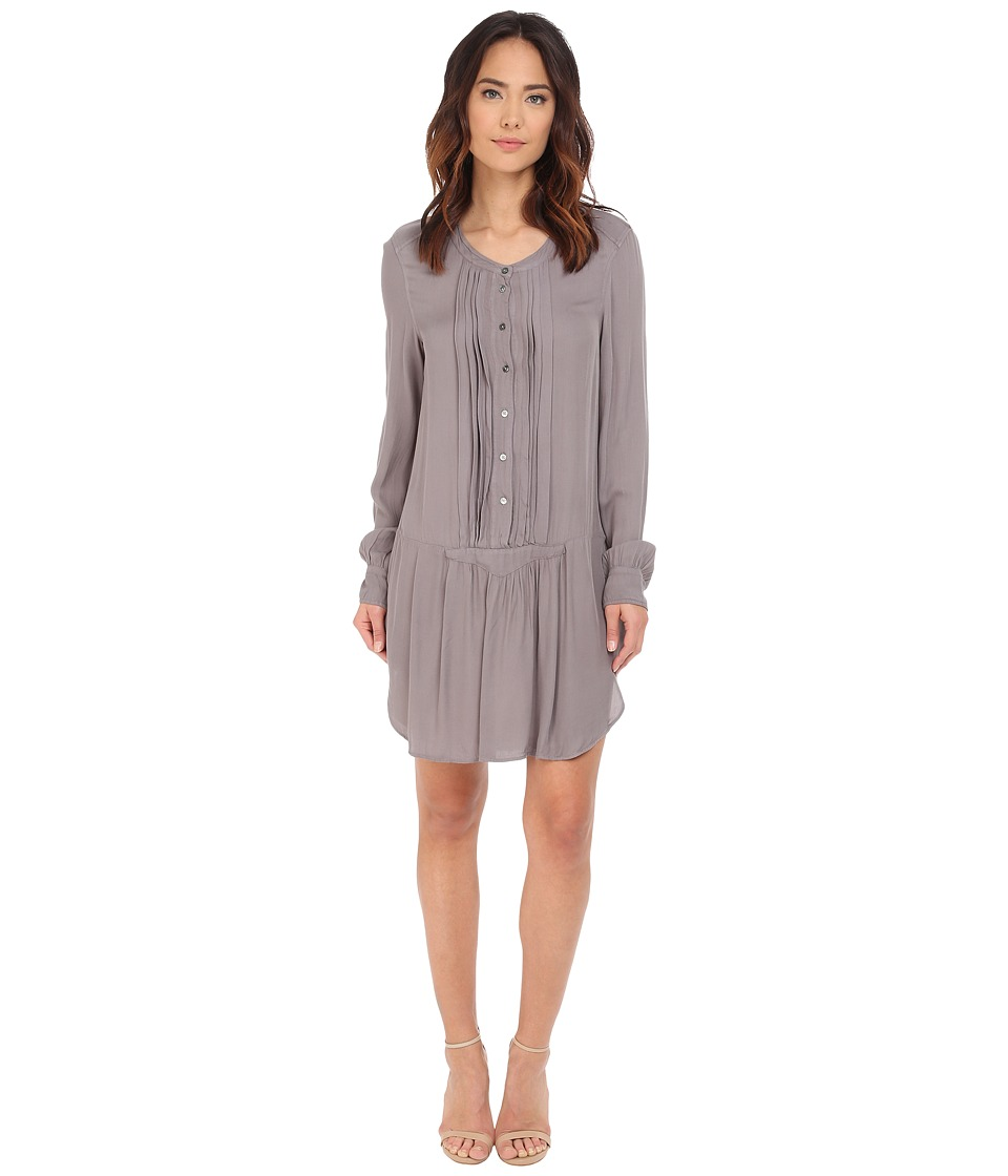 Dylan by True Grit - Laid Back Luxe Pintuck Shirtdress (Vintage Grey) Women's Dress