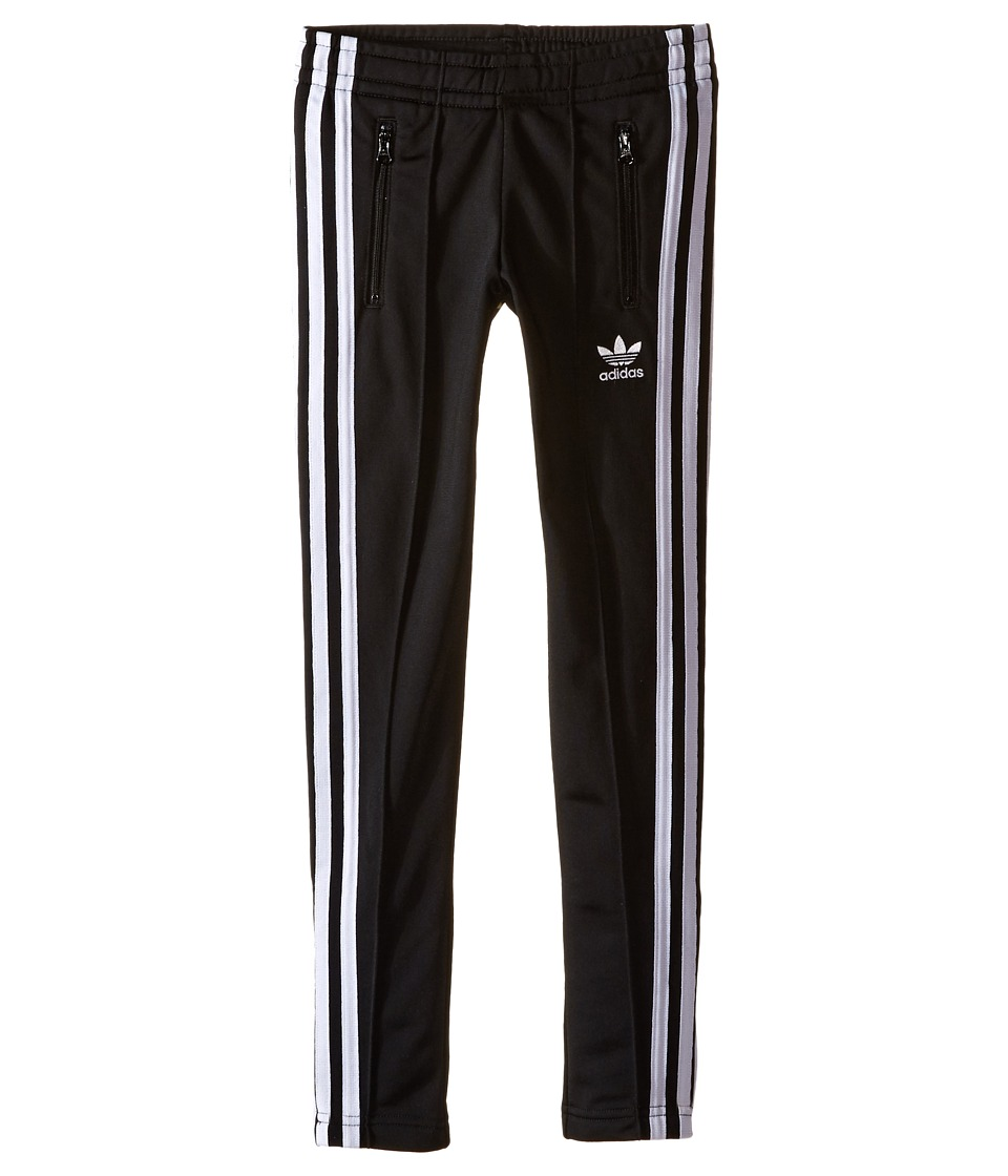 adidas Originals Kids - Everyday Iconics Supergirl Pants (Little Kids/Big Kids) (Black/White) Girl's Casual Pants