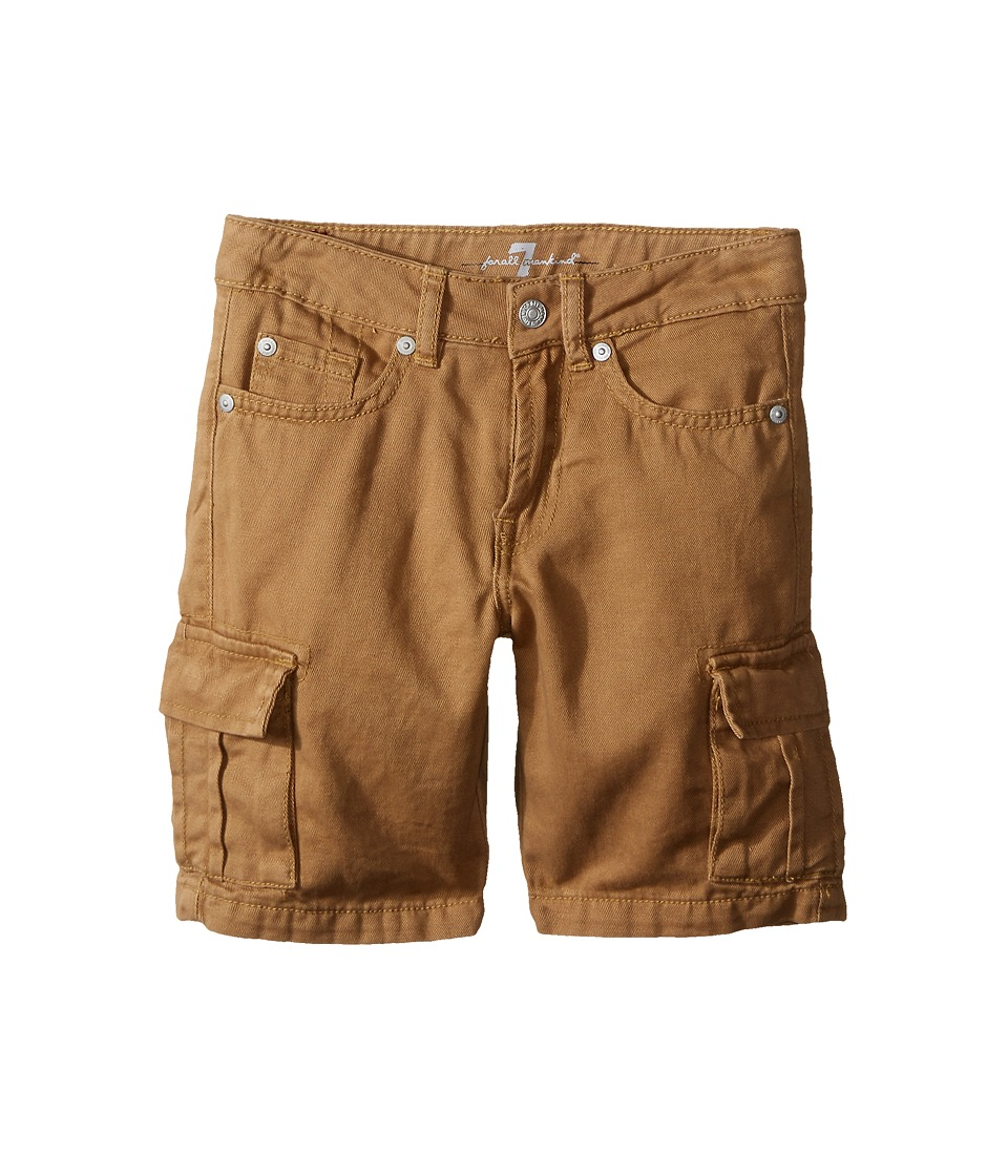 7 For All Mankind Kids - Seven-Pocket Twill Cargo Shorts (Little Kids/Big Kids) (Khaki) Boy