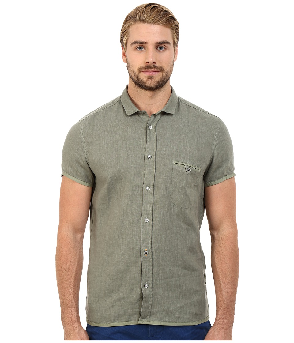 BOSS Orange - EsushiE Button Down Shirt 10169252 01 (Light Pastel Green) Men's Short Sleeve Button Up