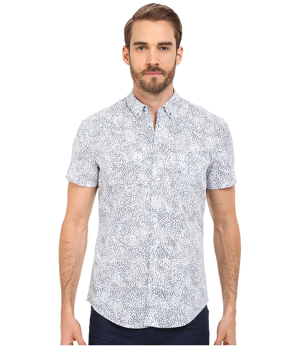 BOSS Orange - ErollesE Shirt Short Sleeve (Dark Blue) Men's Short Sleeve Button Up