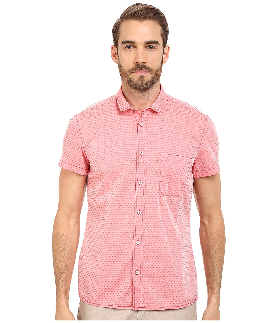 BOSS Orange - EzippoE_1 Shirt Short Sleeve (Medium Red) Men's Short Sleeve Button Up