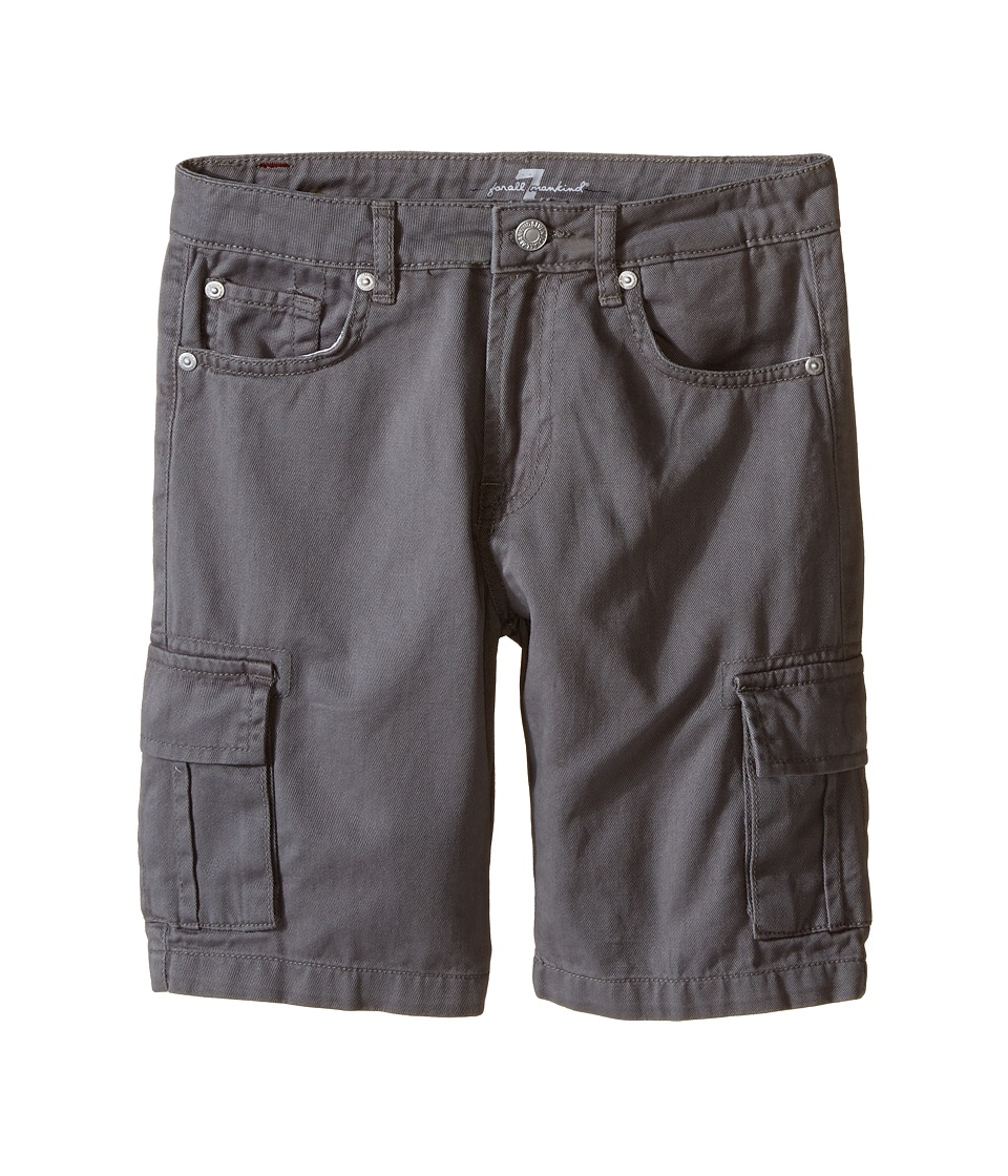 7 For All Mankind Kids - Seven-Pocket Twill Cargo Shorts (Big Kids) (Grey) Boy's Shorts