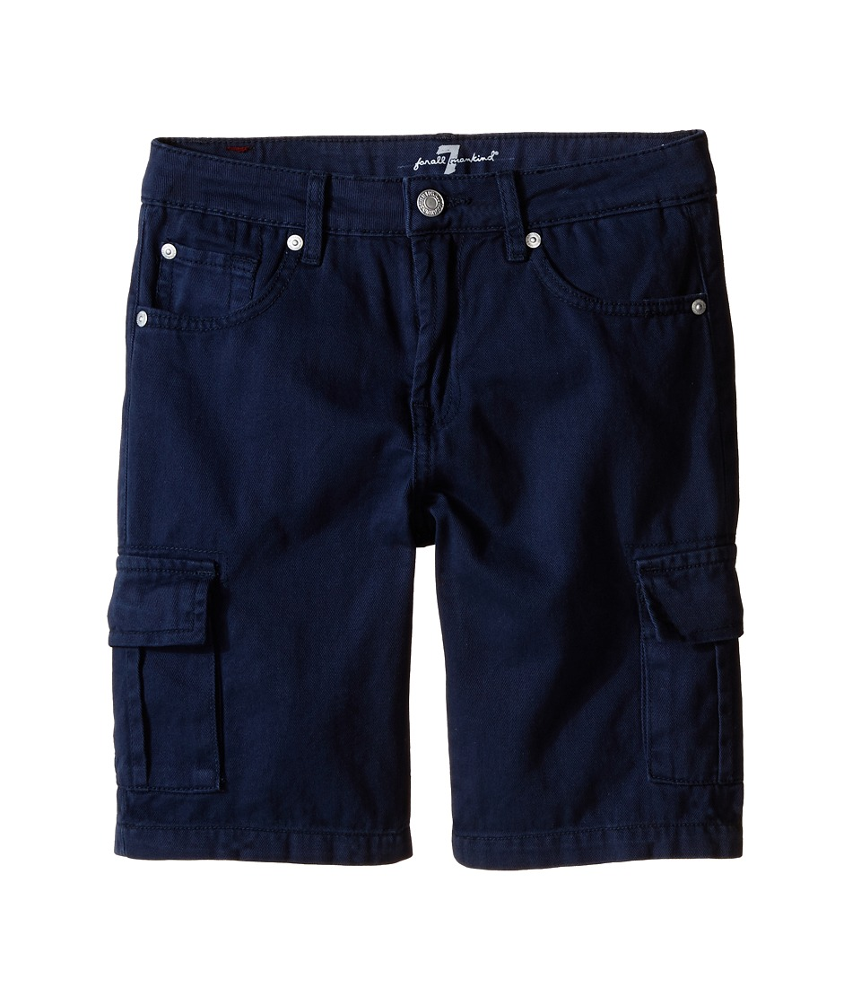 7 For All Mankind Kids - Seven-Pocket Twill Cargo Shorts (Big Kids) (Navy) Boy's Shorts