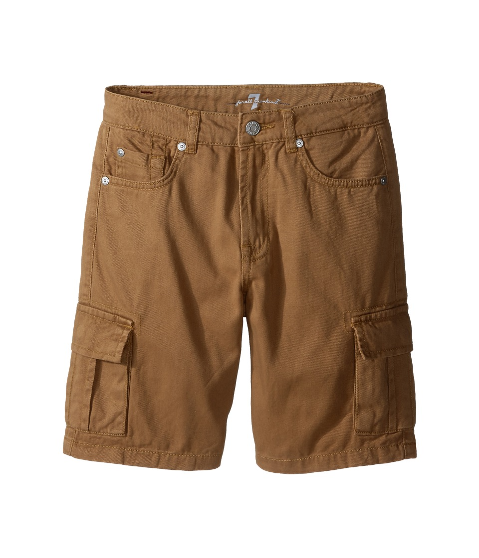 7 For All Mankind Kids - Seven-Pocket Twill Cargo Shorts (Big Kids) (Khaki) Boy's Shorts
