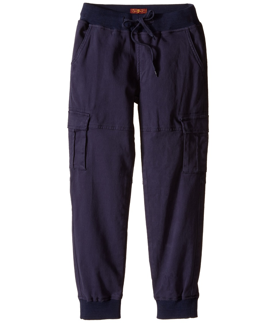 7 For All Mankind Kids - Six-Pocket Cargo Twill Jogger (Big Kids) (Navy) Boy's Casual Pants