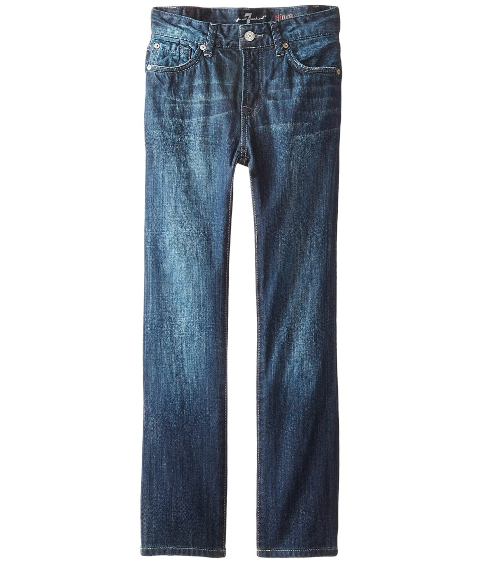 7 For All Mankind Kids - The Slimmy Jeans Dark Indigo in Los Angeles Dark (Big Kids) (Los Angeles Dark) Boy's Jeans