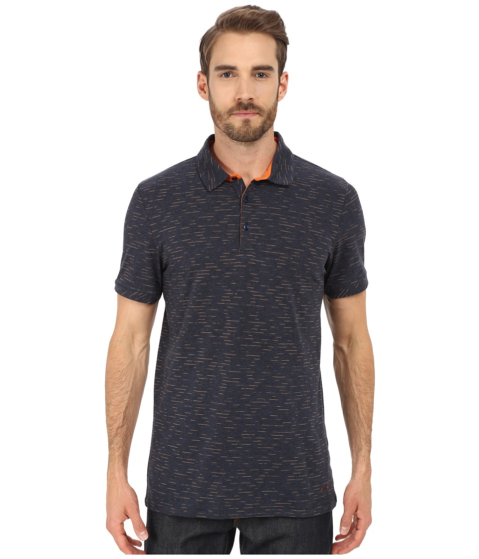 BOSS Orange - Picco Jersey Polo Short Sleeve (Dark Blue) Men's Short Sleeve Pullover
