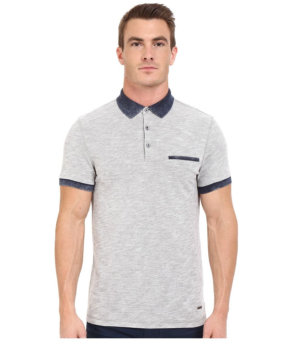 BOSS Orange - Powter Jersey Polo Short Sleeve (Light Pastel Grey) Men's Short Sleeve Pullover