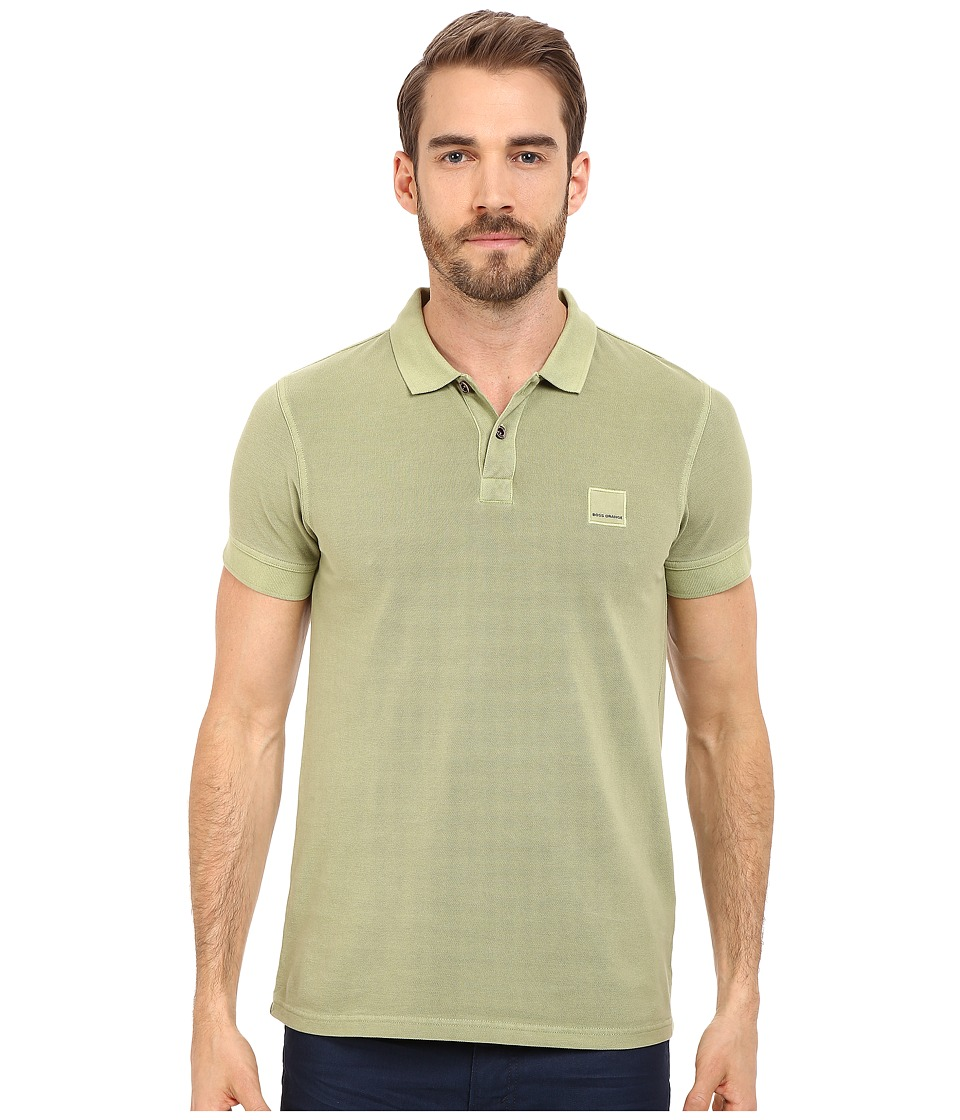 BOSS Orange - Pascha Slim Fit Saltwash Piquet Polo (Bright Green) Men's Short Sleeve Pullover