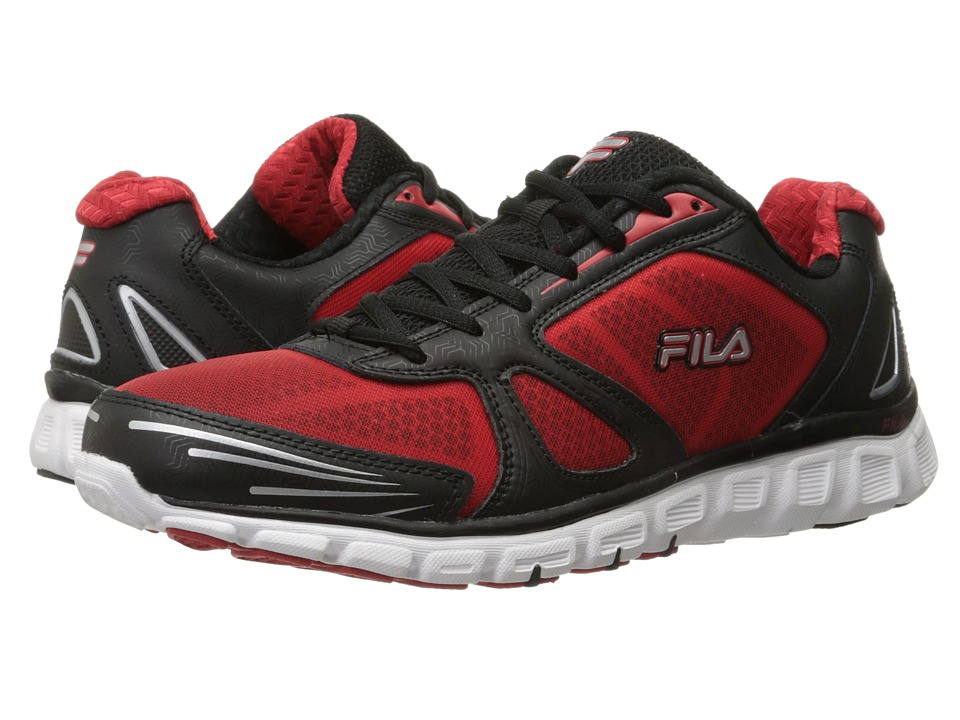 Fila - Memory Solidarity (Black/Fila Red/Metallic Silver) Men's Shoes