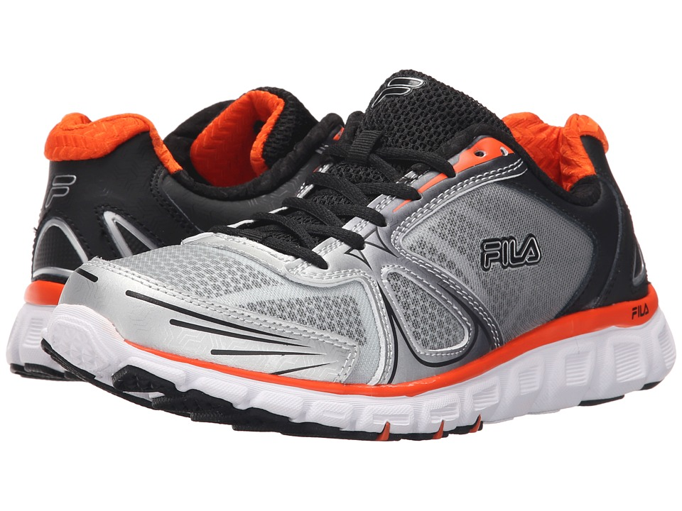 Fila - Memory Solidarity (Metallic Silver/Black/Red Orange) Men's Shoes