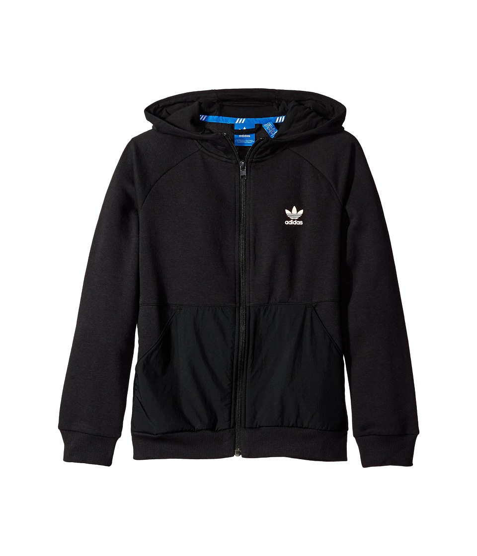 adidas Originals Kids - Sport Luxe Full Zip Hoodie (Little Kids/Big Kids) (Black) Boy's Sweatshirt