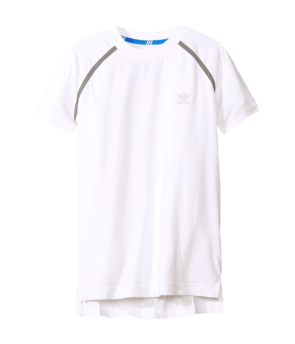 adidas Originals Kids - Sport Luxe Short Sleeve Tee (Little Kids/Big Kids) (White) Boy's T Shirt