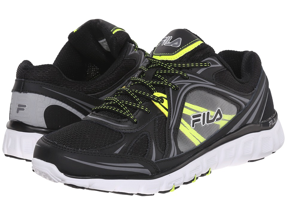 Fila - Memory Retribution (Black/Dark Silver/Safety Yellow) Men's Shoes