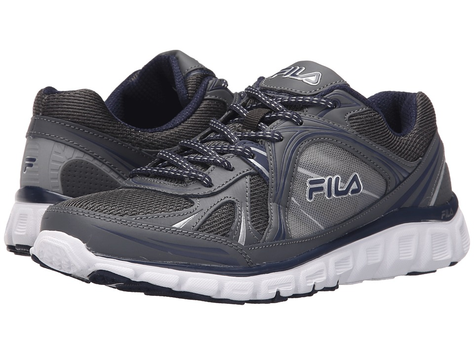 Fila - Memory Retribution (Castlerock/Fila Navy/Metallic Silver) Men's Shoes