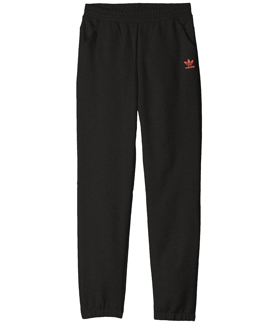 adidas Originals Kids - Sport Luxe Fleece Pants (Little Kids/Big Kids) (Black) Boy's Casual Pants
