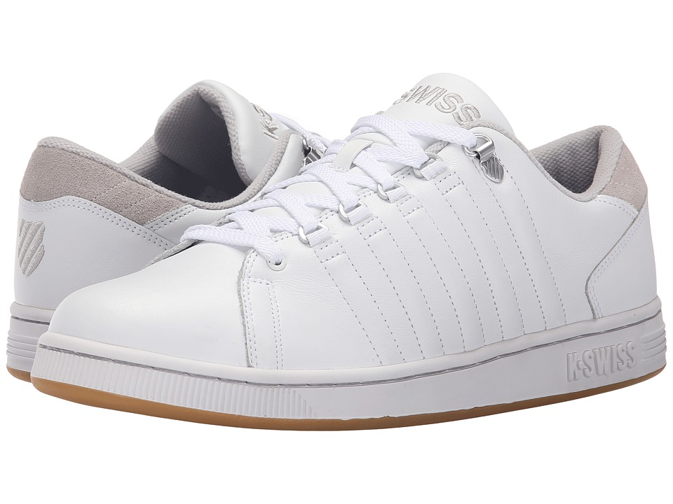 K-Swiss - Lozan III (White/Gull Gray/Gum) Men's Shoes
