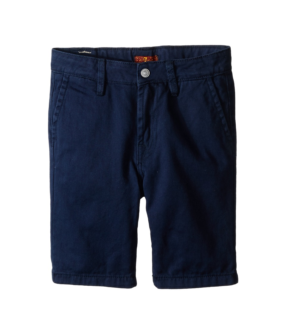 7 For All Mankind Kids - Four-Pocket Classic Twill Shorts (Little Kids/Big Kids) (Navy) Boy's Shorts