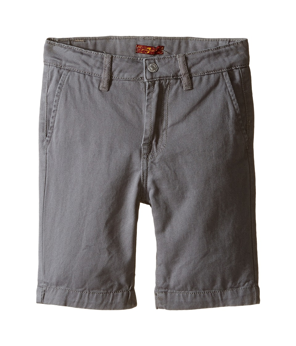 7 For All Mankind Kids - Four-Pocket Classic Twill Shorts (Little Kids/Big Kids) (Grey) Boy's Shorts