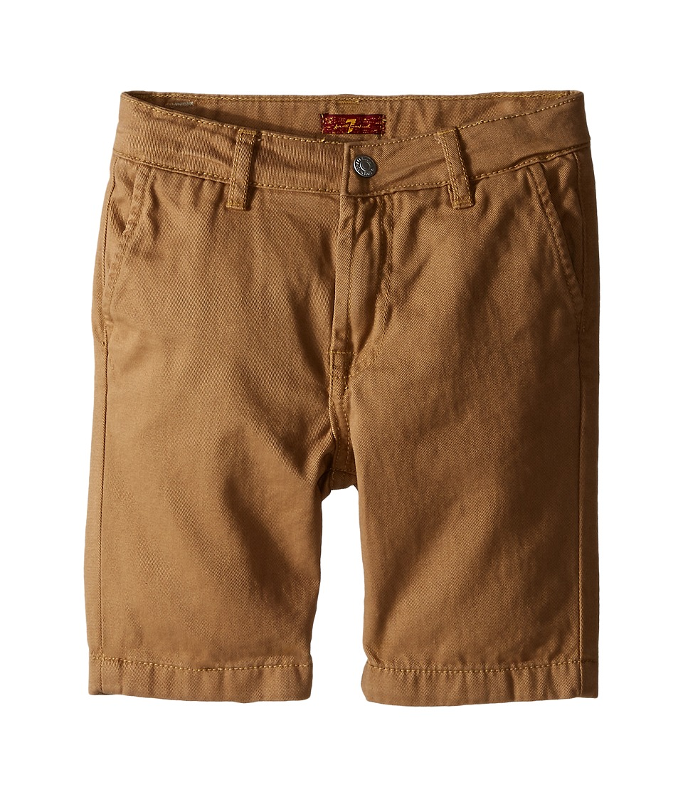 7 For All Mankind Kids - Four-Pocket Classic Twill Shorts (Little Kids/Big Kids) (Khaki) Boy's Shorts