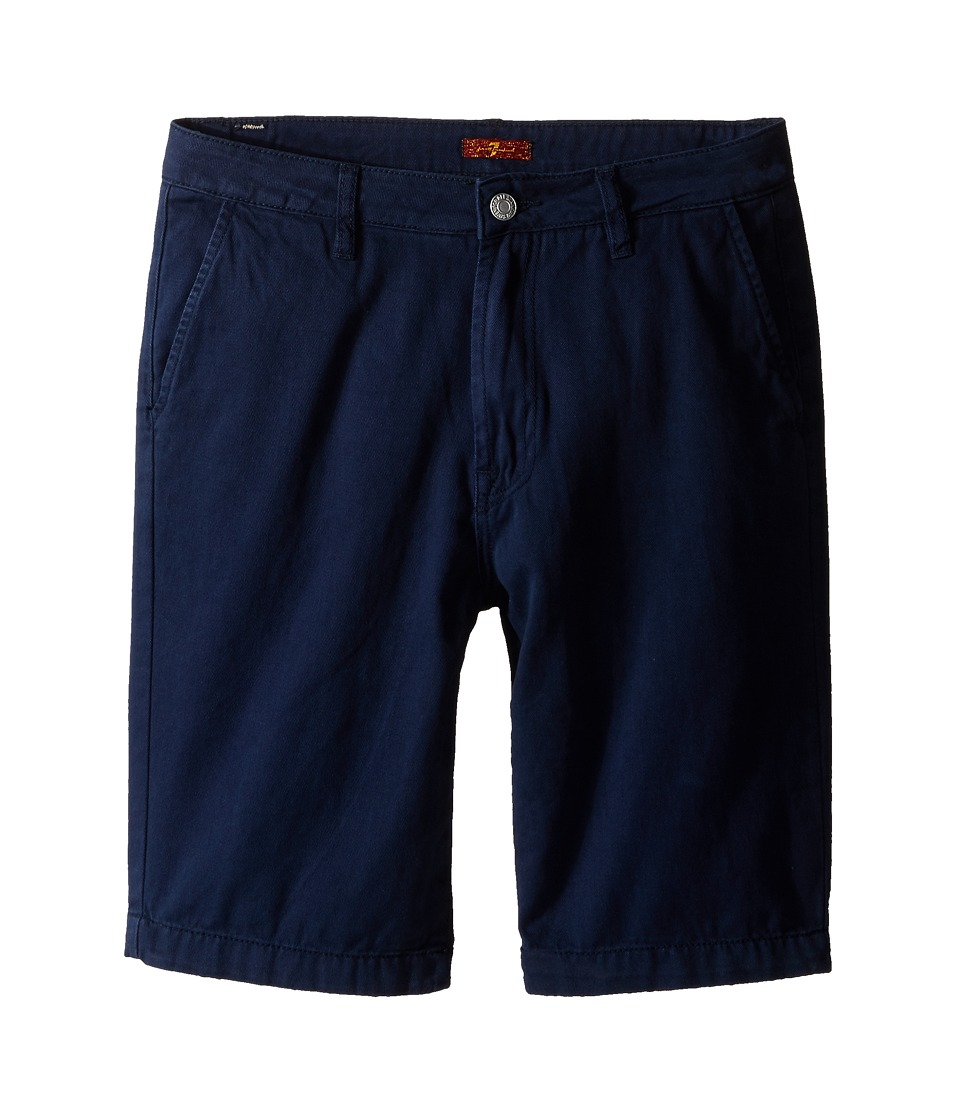 7 For All Mankind Kids - Four-Pocket Classic Twill Shorts (Big Kids) (Navy) Boy's Shorts