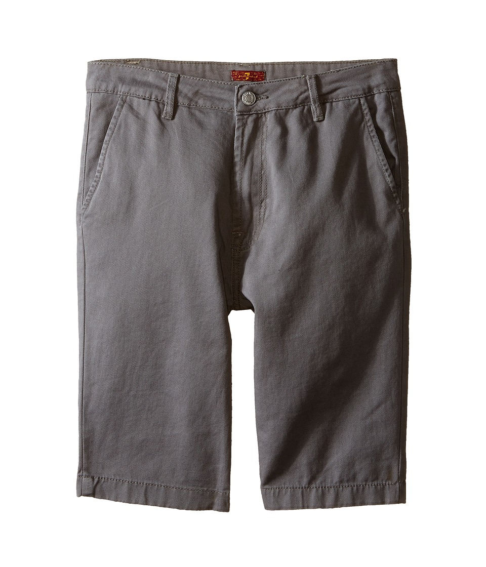 7 For All Mankind Kids - Four-Pocket Classic Twill Shorts (Big Kids) (Grey) Boy's Shorts